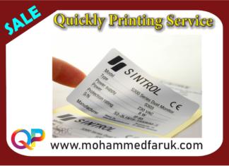 PVC Silver Sticker Printing