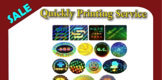 hologram stickers Printing
