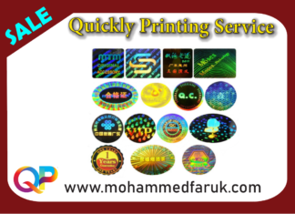 hologram stickers Printing