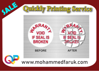 Warranty Sticker Printing